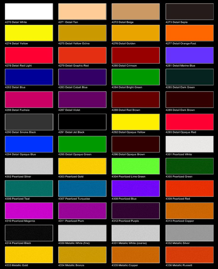 auto air colors color chart page 1 car painting car on paint colors id=95949