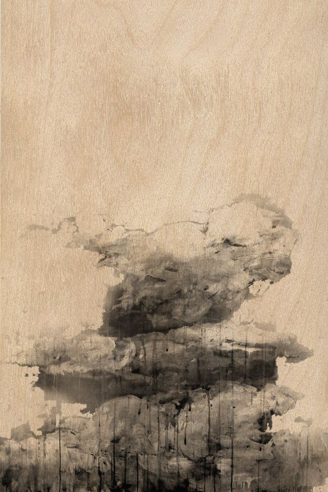 Clouds, Unique artwork made by artist Giorgos Vavilousakis, Digital print on plywood