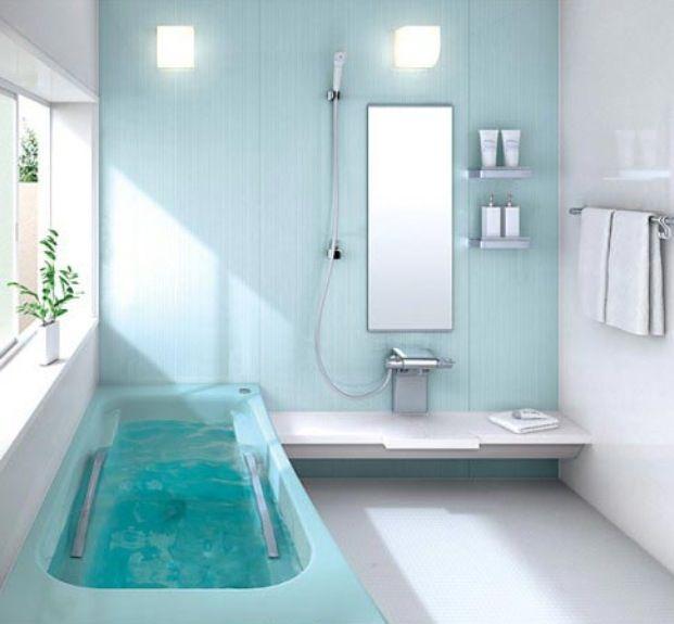 Luxurious Light Blue Bathroom Decor