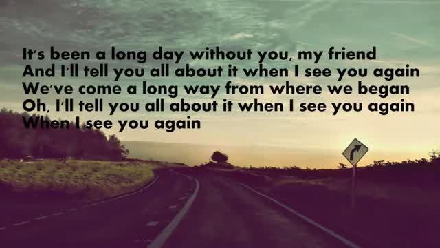 see you again wiz khalifa lyrics - Google zoeken