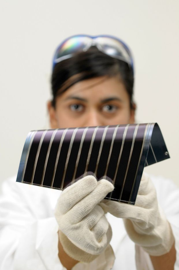 Third generation solar cells thin and flexible.