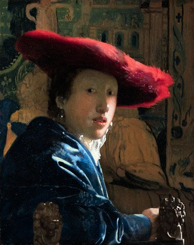 """One of my favorite Vermeer paintings - """"Girl with a Red Hat""""."""