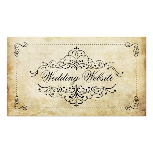 290 best wedding business cards images on pinterest business card the ornate flourish vintage wedding collection business card colourmoves
