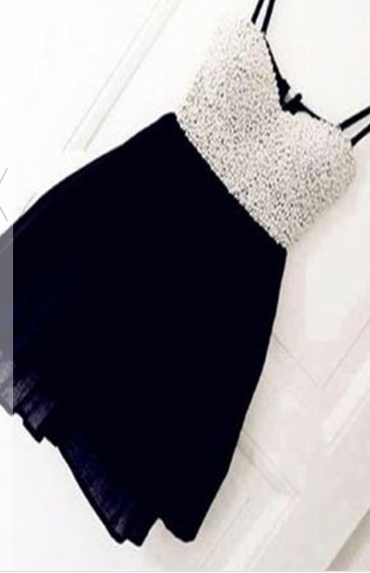 #black #chiffon #short #shortpromdress #homecomingdress #cocktaildresses…