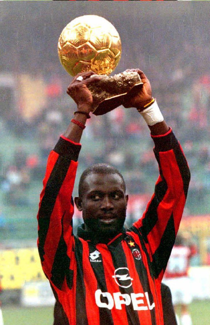 George Weah (Milan AC. Libéria). Ballon d'Or 1995.