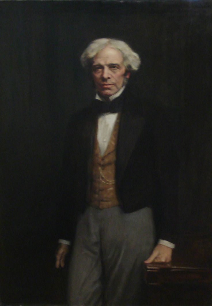 Oil portrait of Michael Faraday by George Harcourt RA RP, 1926. IET Archives ref. OPC/2/24.