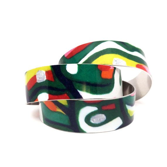 Teen Christmas Gifts - Camo Jewelry - Teen Girl Jewelry - Adjustable Bangle Bracelet - Aluminum Bracelet - Bold Jewelry - Sku TR-006  with <3 from JDzigner www.jdzigner.com