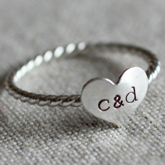 love this ring on etsy! H + C (chloe my puppy) hehe
