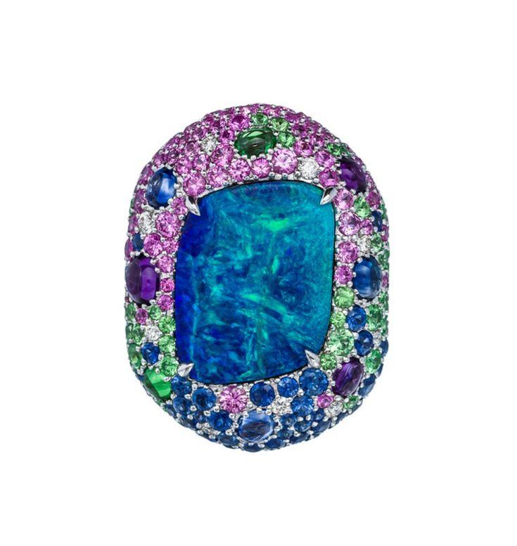 Margot McKinney Lightning Ridge opal ring