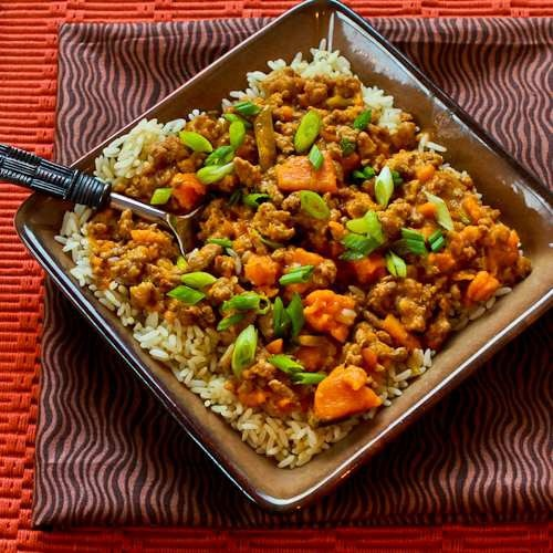 CrockPot Recipe for [Healthy] Sweet and Spicy Ground Turkey and Sweet Potato Stew with Coconut Milk: Chicken Crock Pots, Slow Cooker Recipe, Coconut Milk Recipe, Crockpot Recipe, Potatoes Stew, Ground Turkey, Spicy Ground, Crock Pots Recipe, Sweets Potatoes