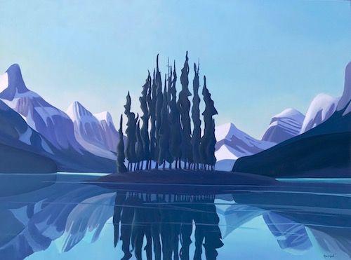Ken Harrison - Beautiful Maligne 36 x 48 Oil on canvas