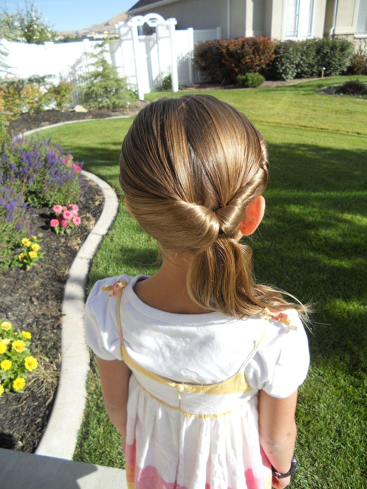 Twistback Flip Under (back) and more Hairstyles from CuteGirlsHairstyles.com