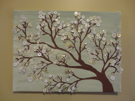 Made this button tree on canvas: