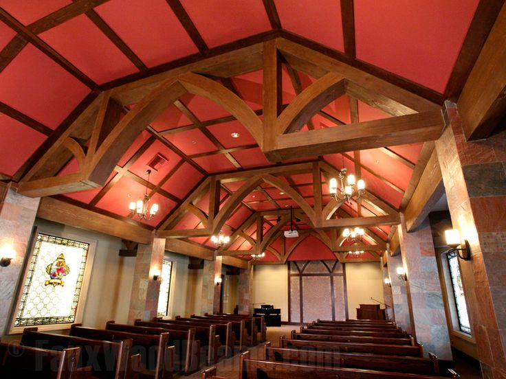 Fairhaven Church Created A Modified Arched King Truss With