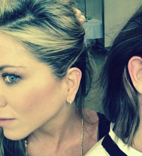 Jennifer Aniston ear pierced