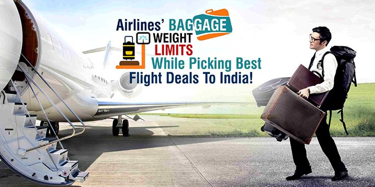Airlines' Baggage Weight Limits While Picking #BestFlightDeals To India!  When it comes to taking #FlightstoIndia from the #USA, people need to follow a number of rules regarding stuff like #baggage, check-in, #cancellation, and more. Talking about the penalties, you can easily get rid of them if you exactly know the limits and allowances attached to it.