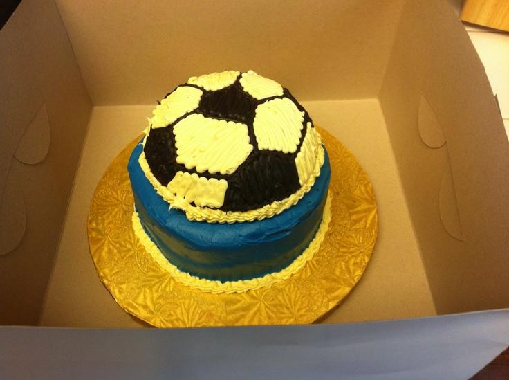 Soccer bday cake