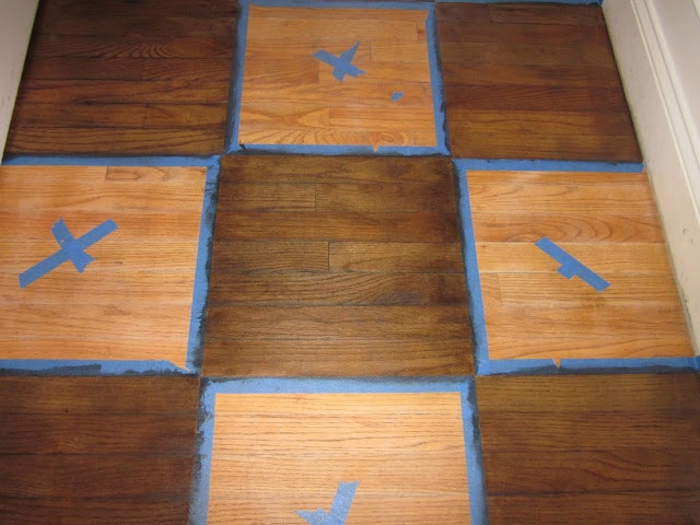How To Stain A Checkerboard Pattern On Your Wood Floor