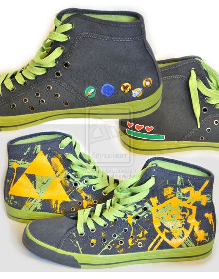 The Legend of Zelda shoes! I need these... Right now...