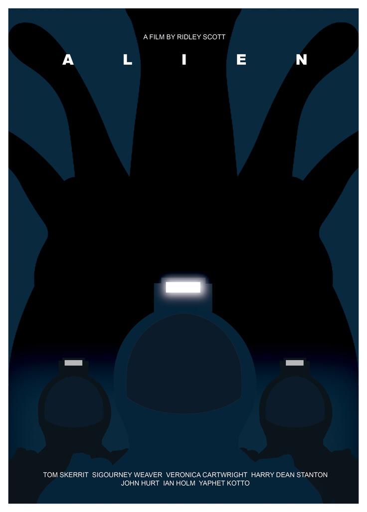 Alien minimalist poster by Tony Johnson