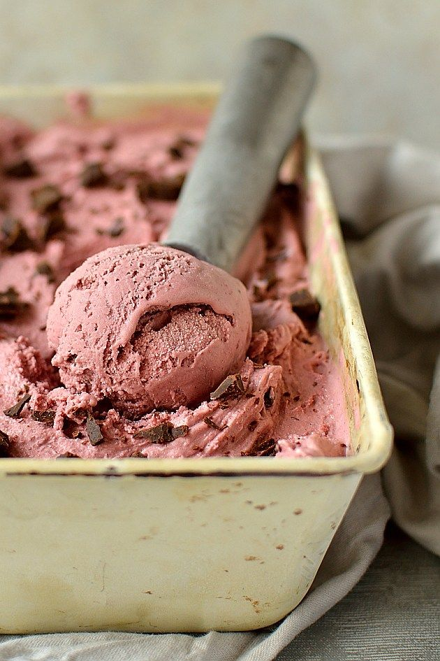 Balsamic Roasted Cherry Chocolate Chunk Ice Cream