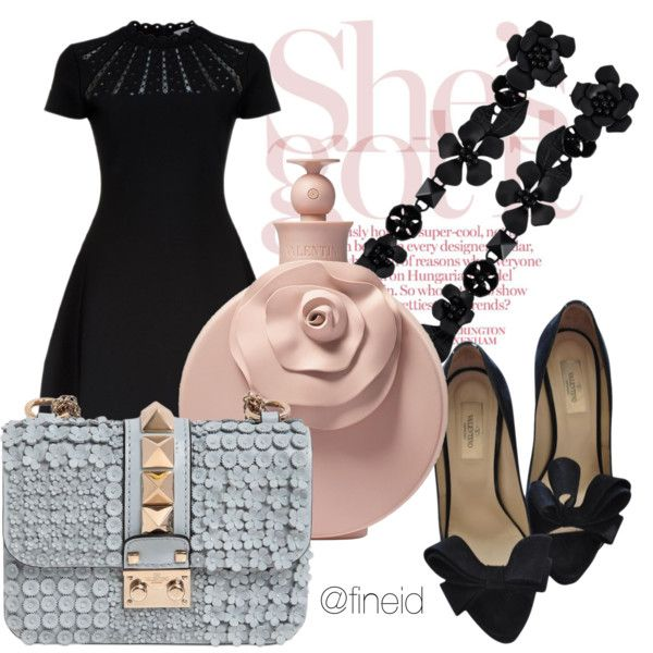 Floreal elegance by fineid on Polyvore featuring moda and Valentino