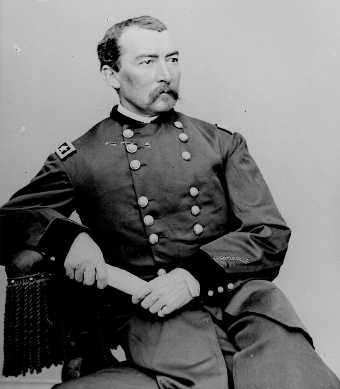 """Union Maj. General Philip Sheridan (1831-1888). Also a big """"scorched earth"""" proponent, Sheridan burned down the Shenandoah Valley much to the dismay of the Rebels. He was also very successful, winning almost every major battle he fought. (West Point - Class of 53)"""