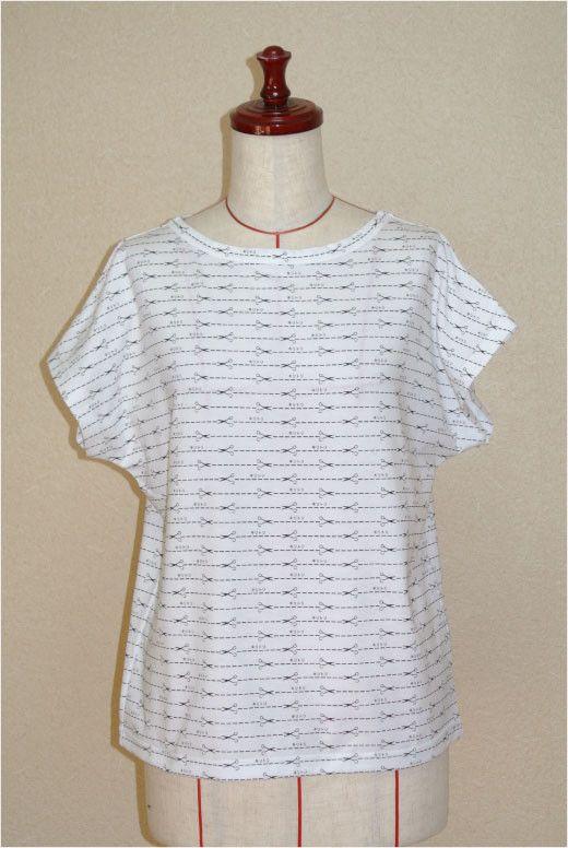 商品名 キリトリ線ボーダーTシャツサイズ Mカラー オフ素材  60番/双糸 天竺使用。混合率 綿100%注)決して切り取らないで下さい。 ハンドメイド、手作り、手仕事品の通販・販売・購入ならCreema。