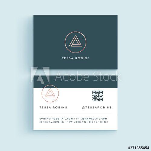 Modern Professional Business Card Template Simple Business Card Abstract Business In 2020 Vector Business Card Professional Business Cards Responsive Website Template