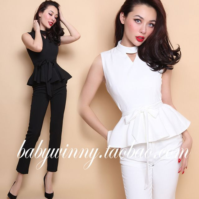 FREE SHIPPING 2016 Summer New All Match Sexy Slim Sleeveless Flounced Shirt Blouse And Ankle Length Pants Women Sets Clothes US $54.00 /piece  Specifics Style	Casual Gender	Women Decoration	Ruffles Clothing Length	Regular Pattern Type	Solid Sleeve Style	Bell Closure Type	Zipper Material	Cotton,Polyester Dresses Length	Ankle-Length Pant Closure Type	Zipper Fly Collar	Mandarin Collar Sleeve Length	Sleeveless Color	Black White  Click link to buy other product http://goo.gl/p8JMyk