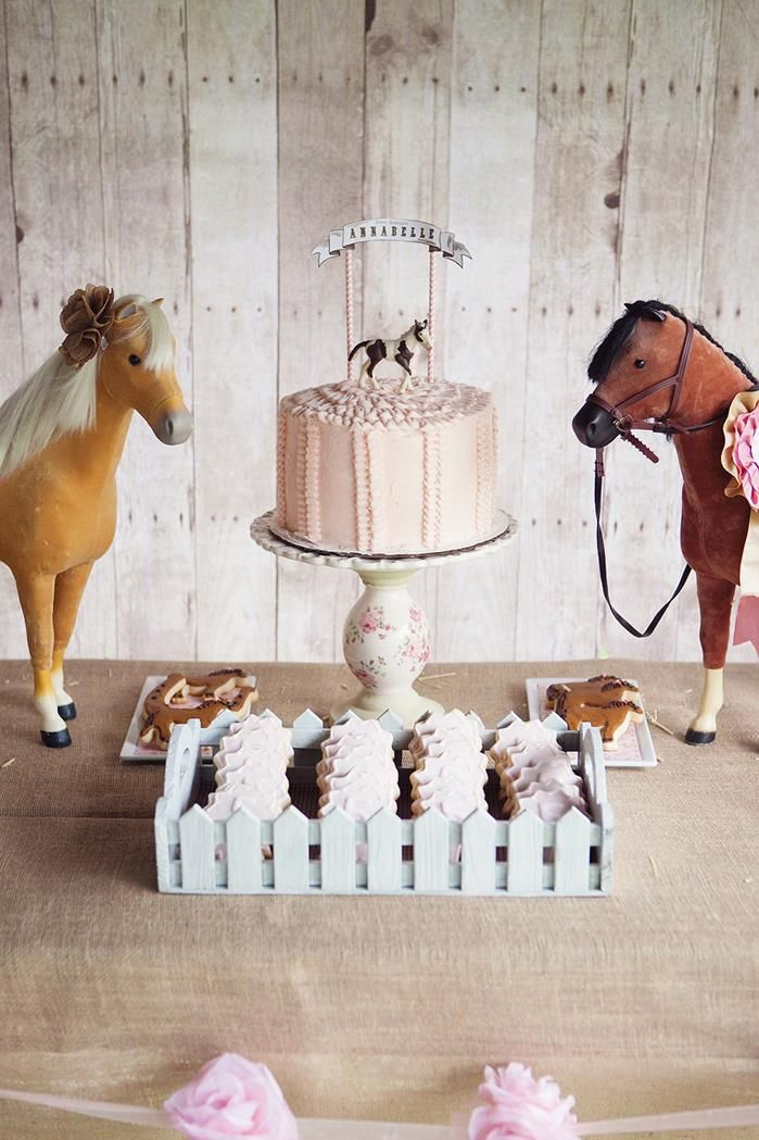 Love the cake! Vintage Pony Party
