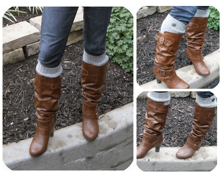 Recycled DIY boot socks from an old sweater! Cute, easy to make and stylish!