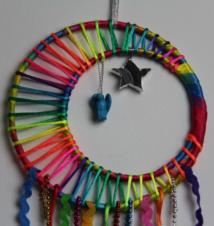 A personal favourite from my Etsy shop https://www.etsy.com/listing/232983397/rainbow-dreams-dreamcatcher-blue-howlite