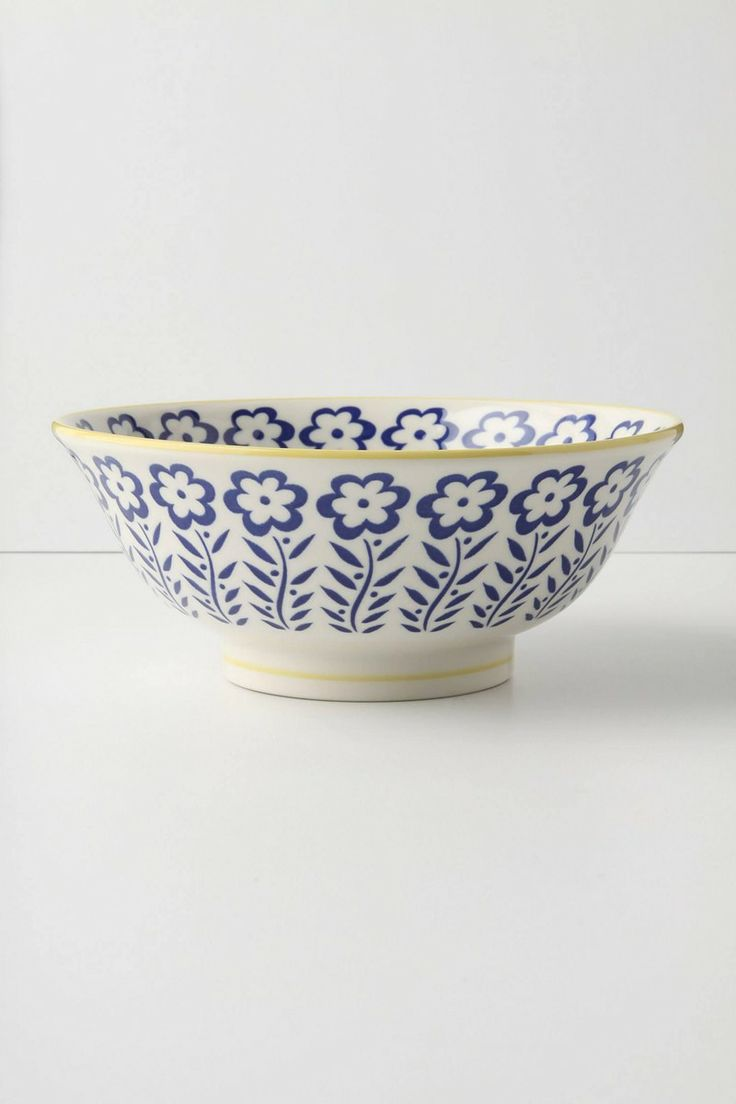 Anthropologie Atom Art Serving Bowl