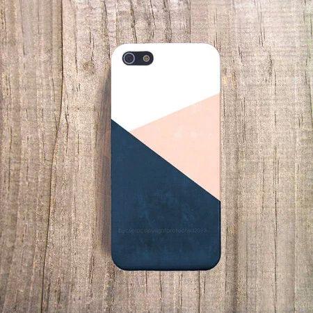 """Navy iPhone 6 Case Peach Chevron iPhone 4 Case iPhone 5s Case Cream"" https://sumally.com/p/1627516"