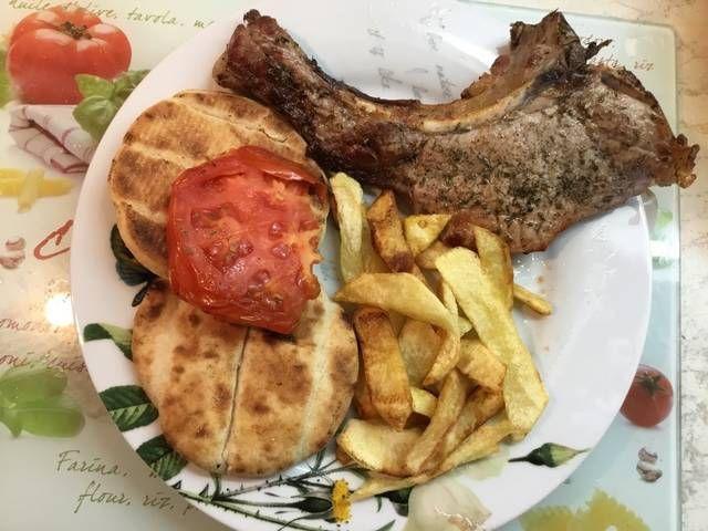 Μπριζόλες χοιρινές στα κάρβουνα #cookpadgreece #mprizoles #stakarvouna