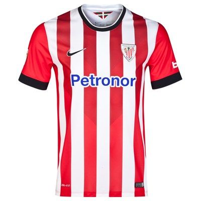 Athletic Bilbao 2014/2015 Home Shirt (Red/White). Available from Kitbag.com