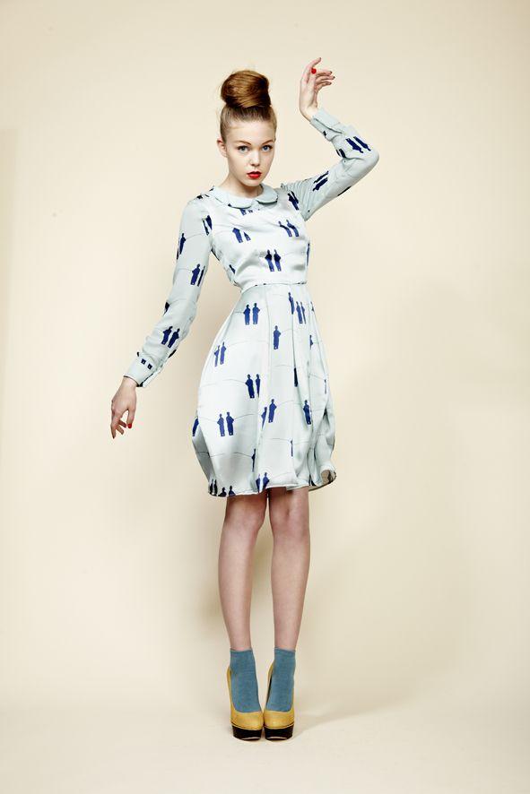 Camilla Dress in Blue Fisherman, Blouse in Blue Fisherman (worn underneath)  Click here to find your nearest stockist:  http://www.charlottetaylorltd.com/#stockists_6  #charlottetaylor