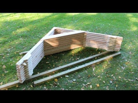 """❧  GOOD SIMPLE SYSTEM USING 2"""" x 4"""" AND PLY. EASY JIG MADE ON BASE TO ENSURE RAFTERS ARE IDENTICAL Roof truss systems for shed, barn, or a tiny house by Jon Peters - YouTube video"""