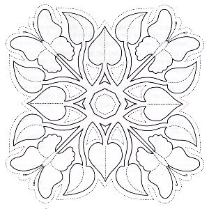 Quilting pattern, could also be used to stencil or a mosaic tile pattern