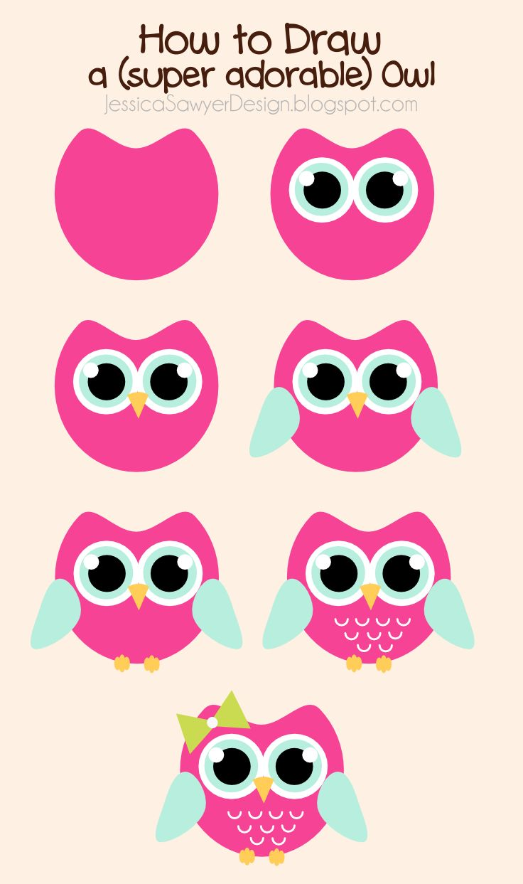 Jessica Sawyer Design: How To Draw An Owl + Free Owl Clipart