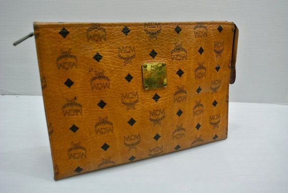 Authentic Mcm Clutch brown Cosmetic Clutch Bag by SNBCOLLECTION