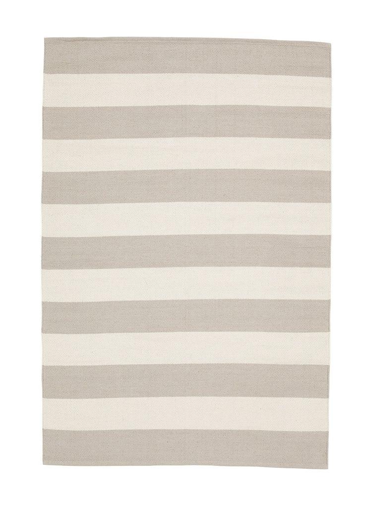 Kodin1 - 140 x 200 cm ANNO Puuvillamatto Pellava-valkoinen Lankku | Puuvillamatot