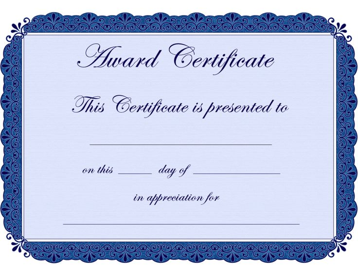 17 Best images about award template – Word Certificate Borders