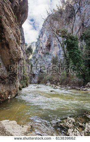 san Venanzio gorges and Aterno river