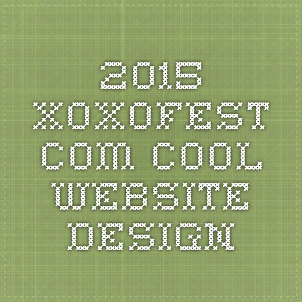 2015.xoxofest.com - cool website design