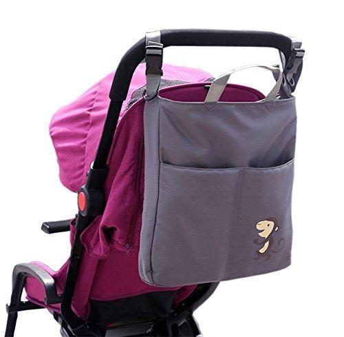 Oferta: 19.99€ Dto: -43%. Comprar Ofertas de ZEEUPAI - Bolsa bandolera para paderes Organizador multifuncional para cochecito carro de bebé (Gris - Mono) barato. ¡Mira las ofertas!