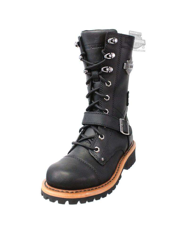 Harley-Davidson® | 87066 | Harley-Davidson® Womens Albara Black Leather High Cut Boot - H-D® Dealer Exclusive