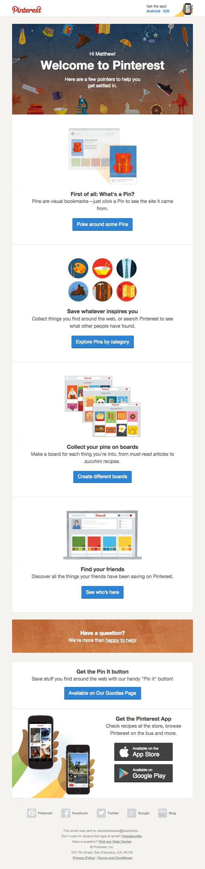 Welcome-Email-from-Pinterest