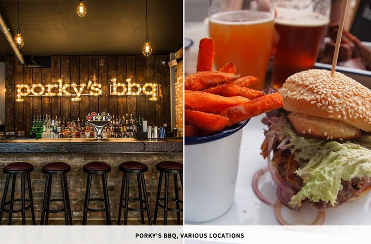 PORKY'S BBQ  A traditional Memphis grill and BBQ in the heart of Camden, come here for signature Southern dishes such as spiced and fried catfish, pulled pork, and 'ribs and tips'.